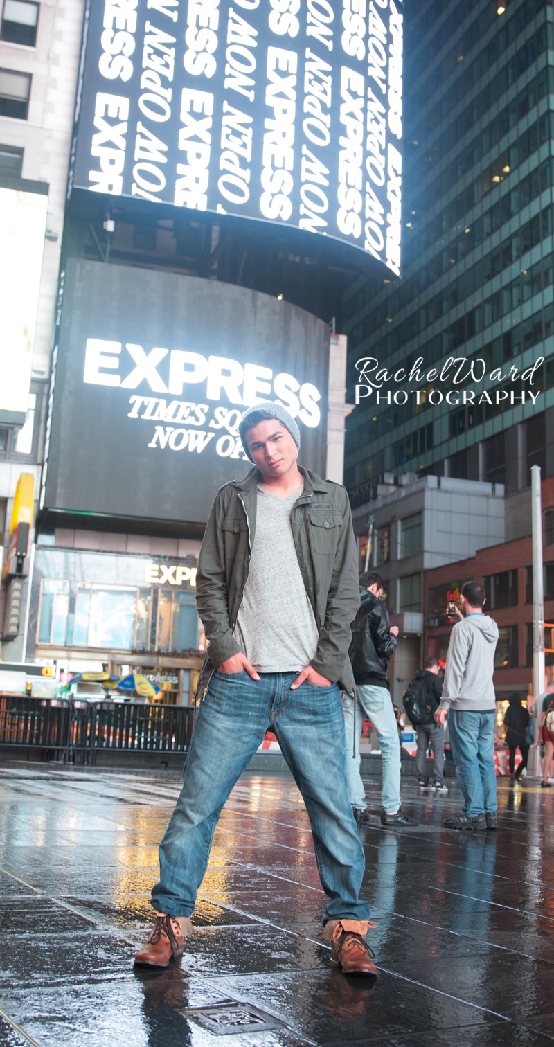 Urban Senior Session in Times Square NYC
